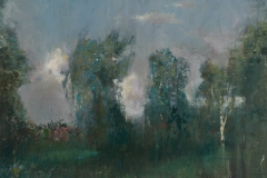 Trees in evening light, 30x25 cm, 2007